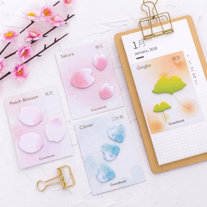 Petal Series Self-Adhesive Memo Pads Sticky Notes Sticker Office Stationery And School Supplies 1PCS/20 Pages