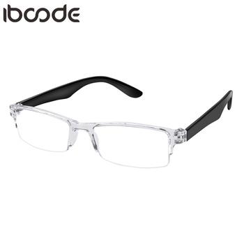 Iboode małe ultralekkie okulary do czytania plastikowe okulary do czytania mężczyźni kobiety okulary do czytania okulary do okularów dla starszych nowość tanie i dobre opinie Unisex Jasne CN (pochodzenie) Lustro 2 8cm Z poliwęglanu 5 1cm Z tworzywa sztucznego Flexible Convenient High Quality Creative