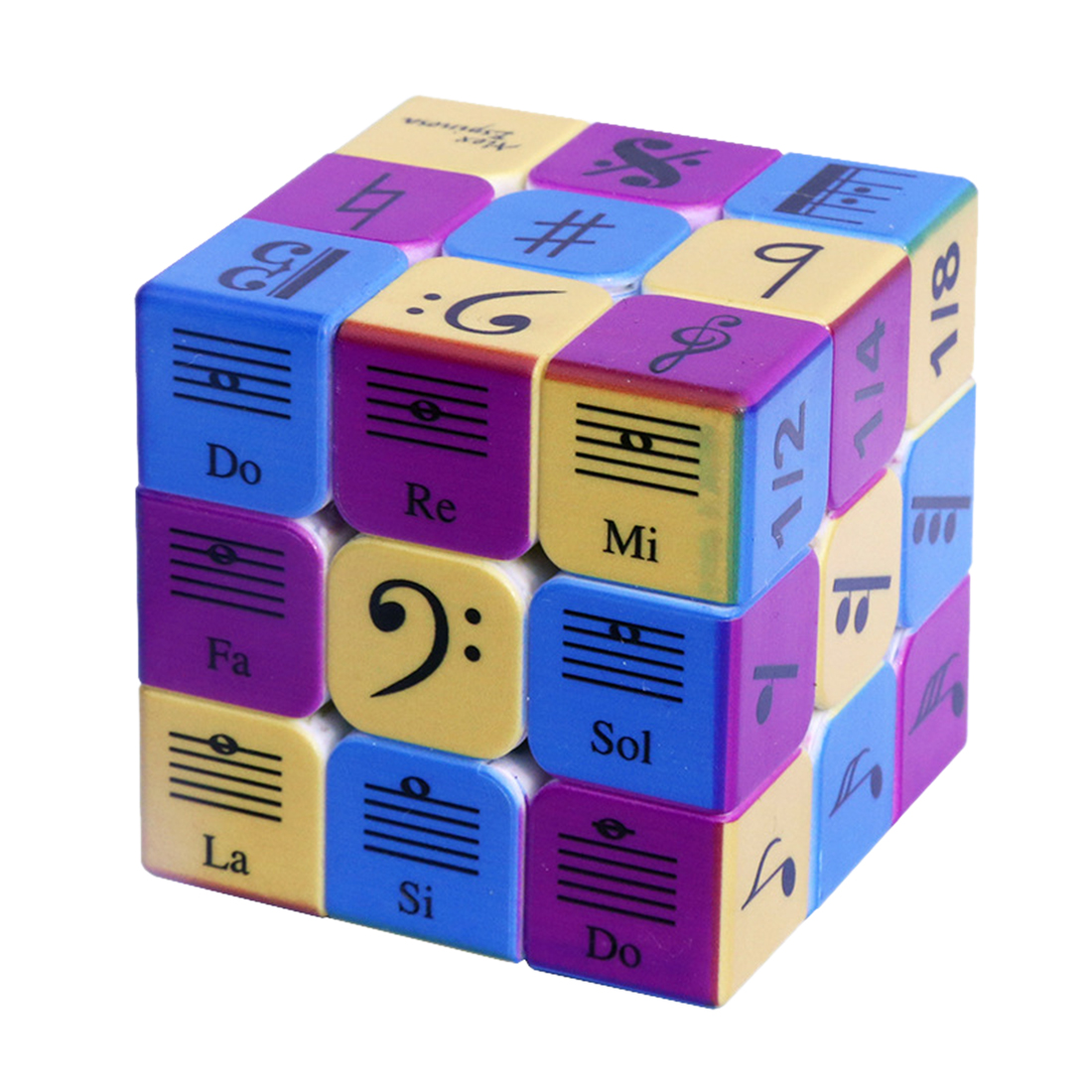 3x3x3 Music Notes Pattern Magic Cube Speed Puzzle Cube For Children Braining Kit Adult Training Set