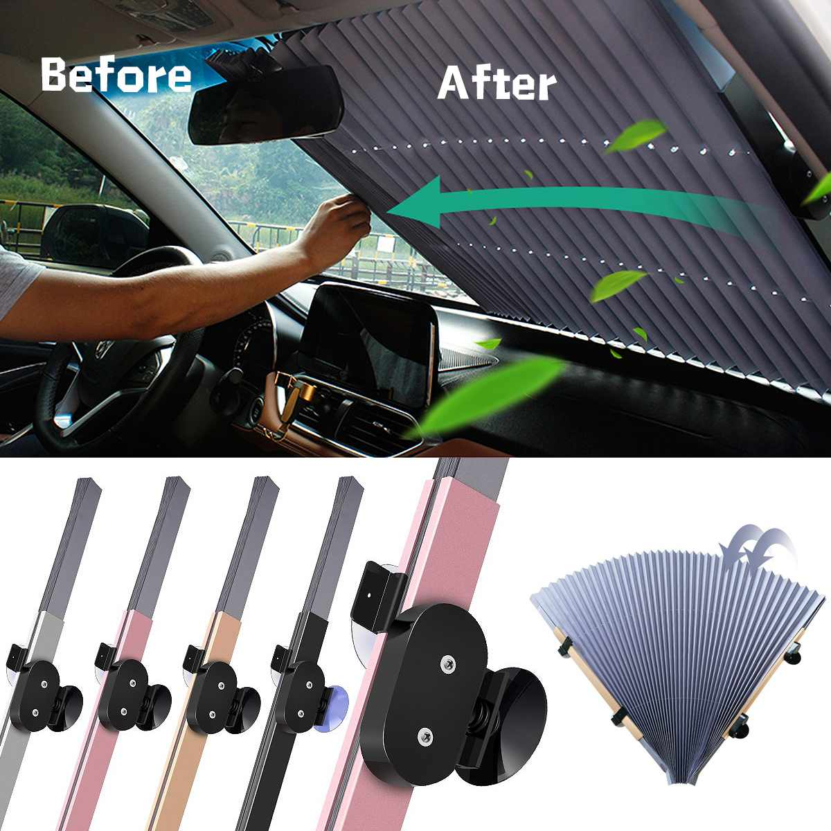70*155CM Car Retractable Windshield Sun Shade Block Sunshade Cover Front/Rear Window Foil Curtain for Solar UV Protect Sunshades70*155CM Car Retractable Windshield Sun Shade Block Sunshade Cover Front/Rear Window Foil Curtain for Solar UV Protect Sunshades