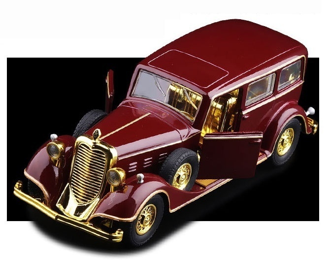 Scale 1:32 Cadillac Deluxe Tudor Limousine 8C Die-cast Model Car Toy Light &sound Collection
