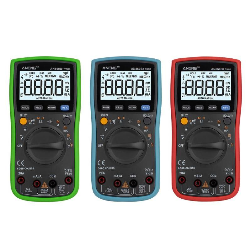AN860B Digital Multimeter AC/DC Ammeter Voltmeter Temperature Tester Electrical Instruments