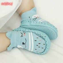 Обувь для малышей; носки с героями мультфильмов для малышей; Детские домашние носки-тапочки; нескользящие носки для малышей; мокасины; Тапочки