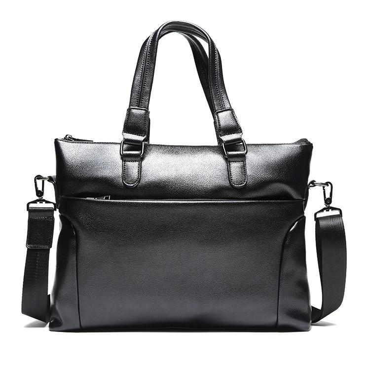 New Fashion Bag Men's Briefcase PU Leather Business Man Laptop Messenger Bags Casual Handbag For Men Crossbody Bag Bolso Hombre