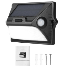 LED Solar Wall Light 2.6H High Bright/32H Power Saving Energy With Infrared Human Body Induction Outdoor Colorful
