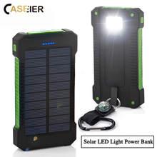 CASEIER 8000mAh Powerbank Solar Waterproof Power Bank LED Li