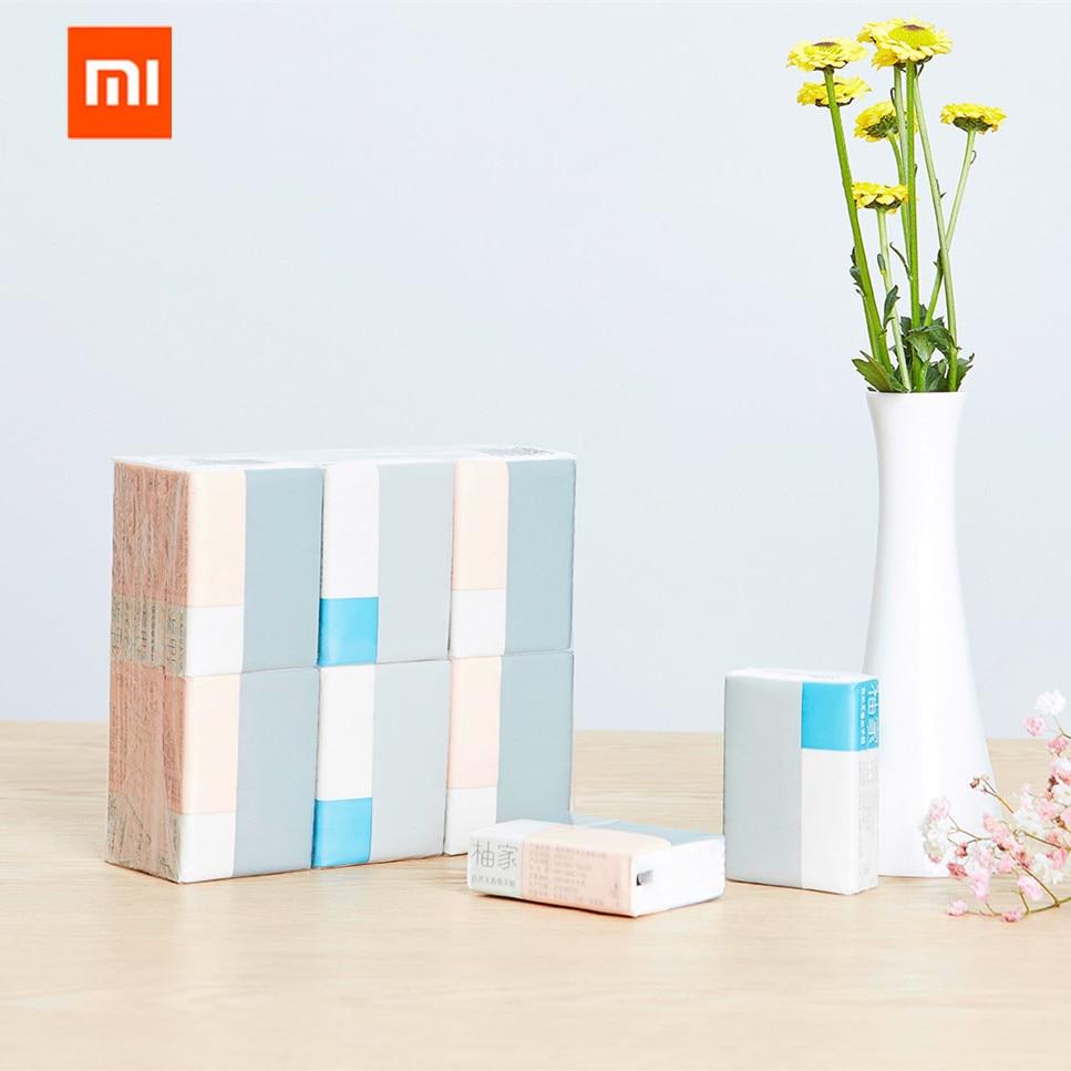 Xiaomi Mijia Youjia Antibakterielle Tissue Holz Papier 8 Pcs Tragbare Serviette Wc Papier Für Kinder Familie Das Ganze System StäRken Und StäRken