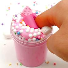 Children DIY Color Plasticine Toy Crystal Mud Cake Cloud Slime Poke Milk Puree Pottery PUFF Glue Marshmallow Brain Game Clay Toy(China)