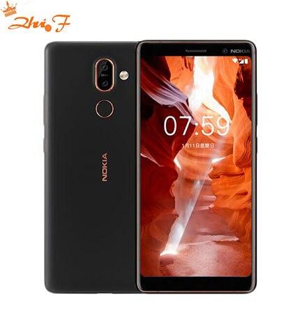 D'origine Nokia 7 Plus Android 8 ROM mondiale OTA 4G 64G Snapdragon 660 Octa core 6.0 ''2160x1080 P 18:9 3800 mAh Bluetooth 5.0