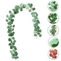 2 m искусственный эвкалипт листья искусственная Виноградная лоза зелени венок для свадьбы праздника украшение домашний декор для стола
