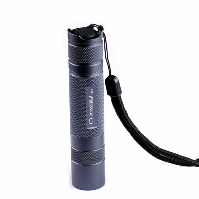 Convoy S2+Grey L2 7135x4 3/5Modes EDC LED Flashlight 18650 Battery Outdoor Hunting Camping Flashlights Portable Lighting