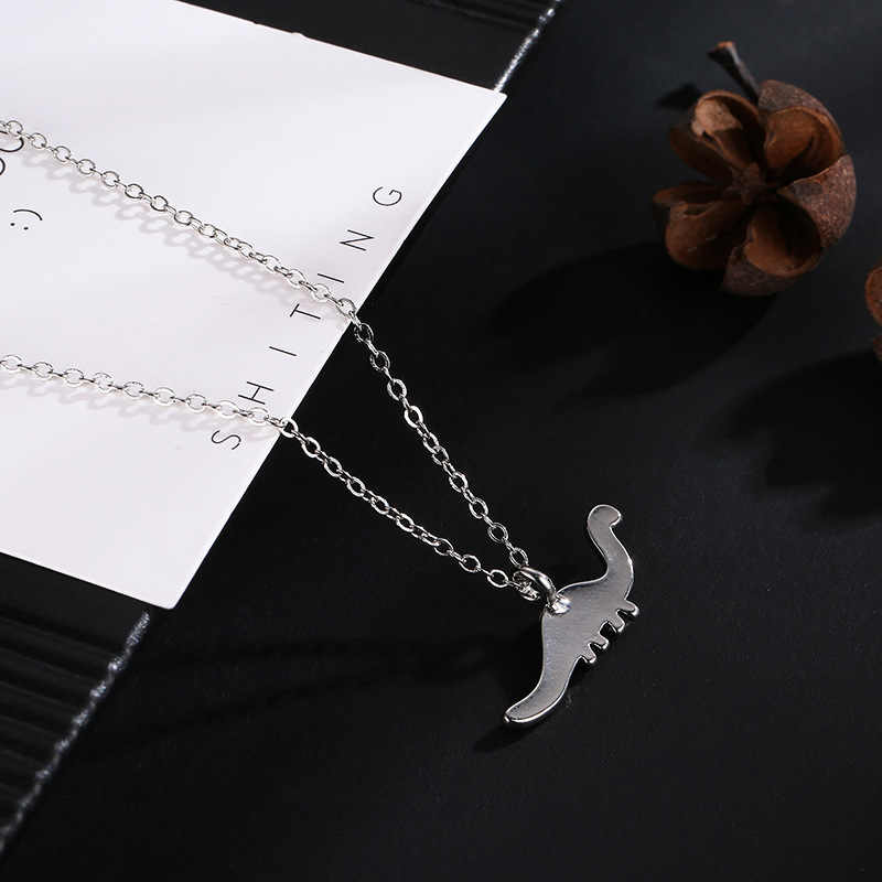 クリエイティブローズゴールド恐竜ネックレスファッション人格スタイルペンダント Nacklaces 女性女の子のため