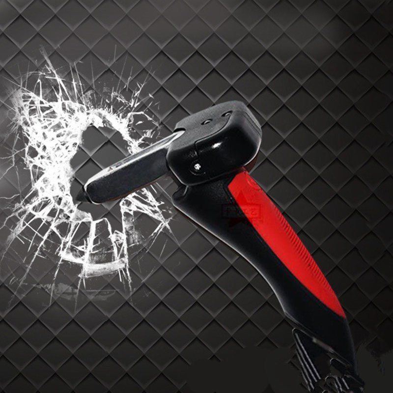 Multifunctional Automobile Safety Hammer With Flashlight Anti Slip Grip Car Styling Interior Accessories
