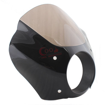 Somked Motorcycle Accessories Quarter Fairing Windshield Fit For Harley 1988-later XL 1986-1994 FXR 95-05 Dyna