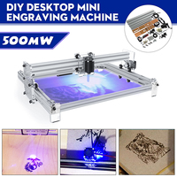 40X50CM 500mW DIY Desktop Mini Blue Laser Engraving Engraver Machine Wood Router/Cutter/Printer/Power Adjustable Laser