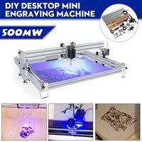 40x50cm 500mw diy desktop mini azul máquina de gravura do laser gravador madeira roteador/cortador/impressora/potência ajustável laser