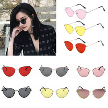 Fashion Cat Eye Sunglasses Women Yellow Red Light Weight Lens Sun glasses For Woman Fashionable Joker