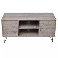 VidaXL ТВ шкаф 120x40x45 см серый ТВ Стенд гостиная мебель для дома ТВ стол современный стиль модный ТВ шкаф 243449