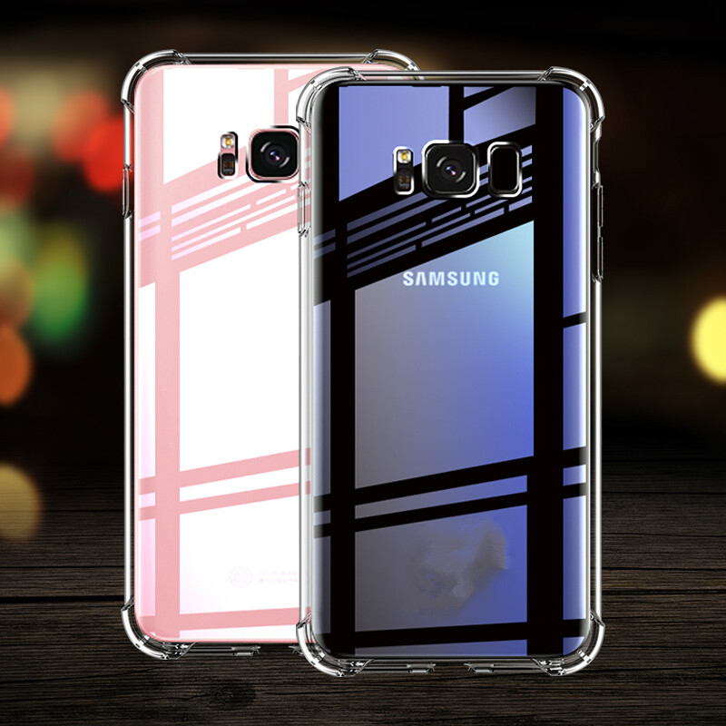 Anti-knock Clear Silicon Case For Samsung Galaxy S6 S7 edge S9 S8 S10 plus Shockproof TPU case for J8 J6 J4 2018 J3 J5 J7 2016