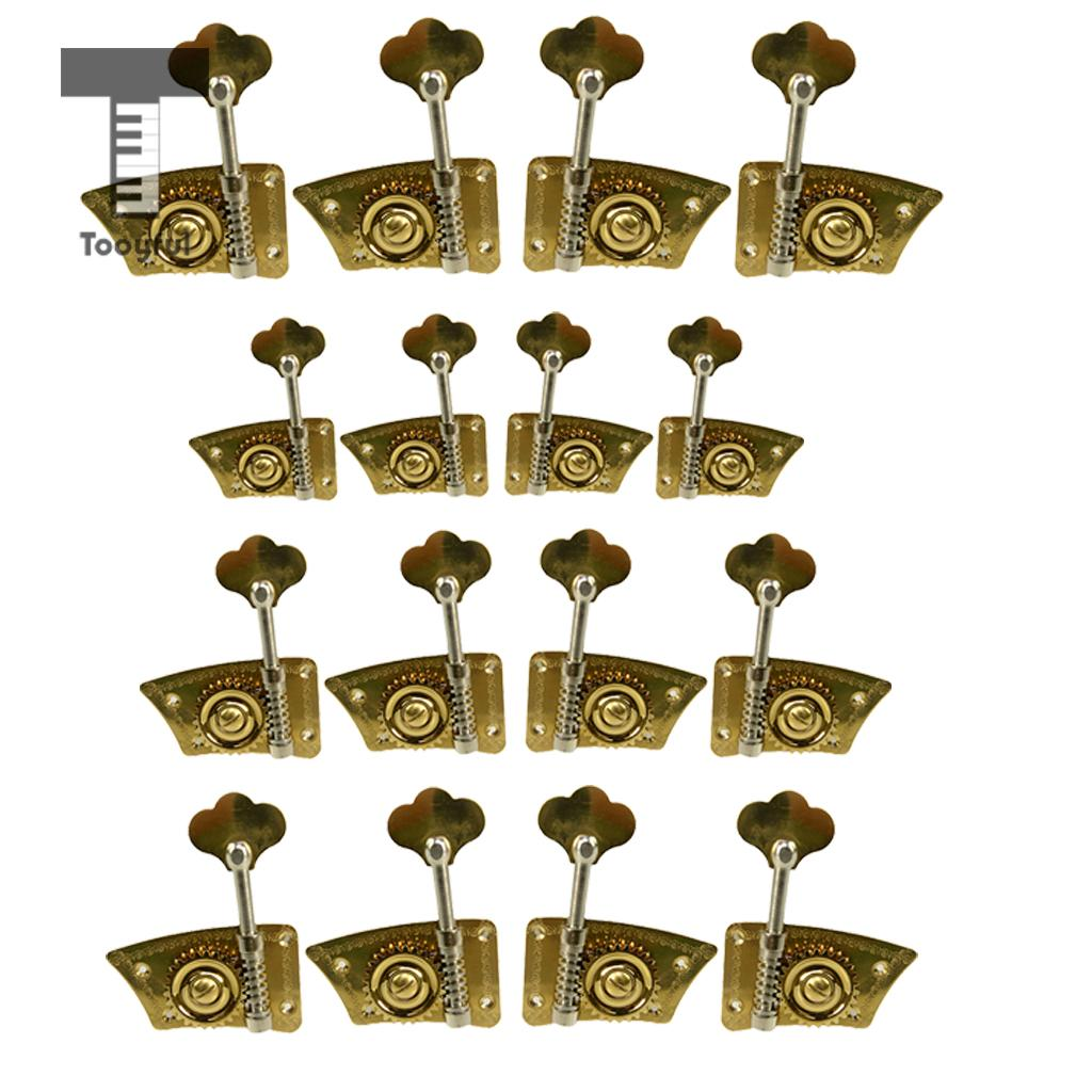 4pcs 2R2L Upright Double Bass Tuning Pegs Machine Heads for Double Bass Players
