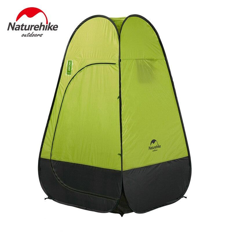 Naturehike 1-2 Person Outdoor Camping Automatische Schnell Öffnung Angeln Zelt Für Dressing Zelt Bad Wc Schuppen Mobile Toilette
