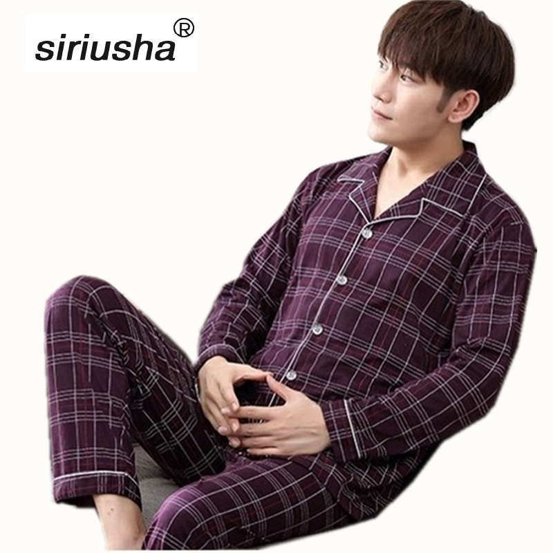 Pajama Sale Sets Winter Pyjamas Men Thermal Homewear Boys Nightwear Cotton Sleepwear Oversize New 2020 Bottom Sleepy Pijama S22