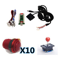 1 kit of Zero Delay Arcade PC PS 2 PS 3 3IN 1 PC Encoder PC to Joystick Control panel For MAME with duotone button and joystick