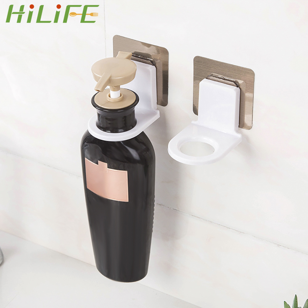 HILIFE Power Plug Socket Holder Wall Storage For Body Wash Shampoo Bottle Wall Mounted Self Sticky Hooks Strong Adhesive Hook