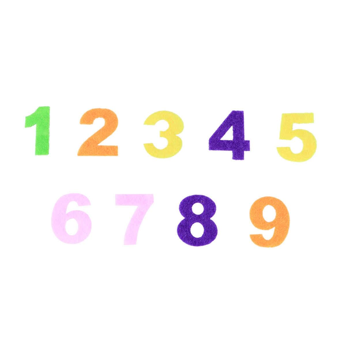 100 In 1 ผ้าไม่ทอตัวอักษรตัวอักษรตัวเลข DIY Craft Handmade อุปกรณ์เสริมสำหรับ Scrapbooking ตกแต่งของขวัญ