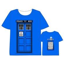 Hot Anime  Doctor Who T-shirt Men Women Short Sleeve Summe TARDIS dress Hearts Cosplay Costumes Tops Unisex t shirt