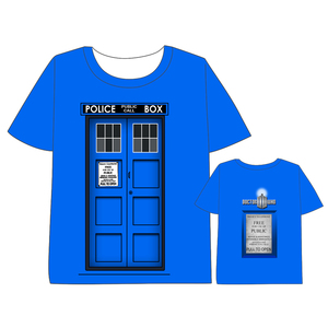 Hot Anime  Doctor Who T-shirt Men Women Short Sleeve Summe TARDIS dress Hearts  Cosplay Costumes Tops Unisex t shirt