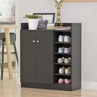 Home Furnitures Shoe Storage Cupboard Cabinet Rack Four Adjustable Shelves Convenience Shoes Storage