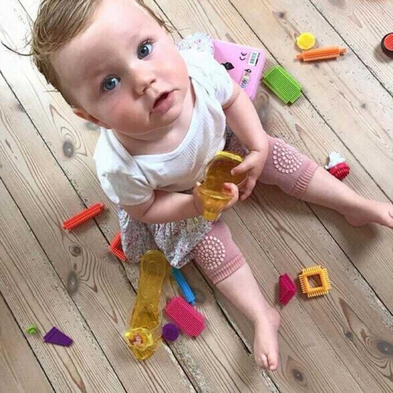 Гетры для новорожденных и маленьких девочек и мальчиков, модные наколенники для ползания, детские защитные наколенники