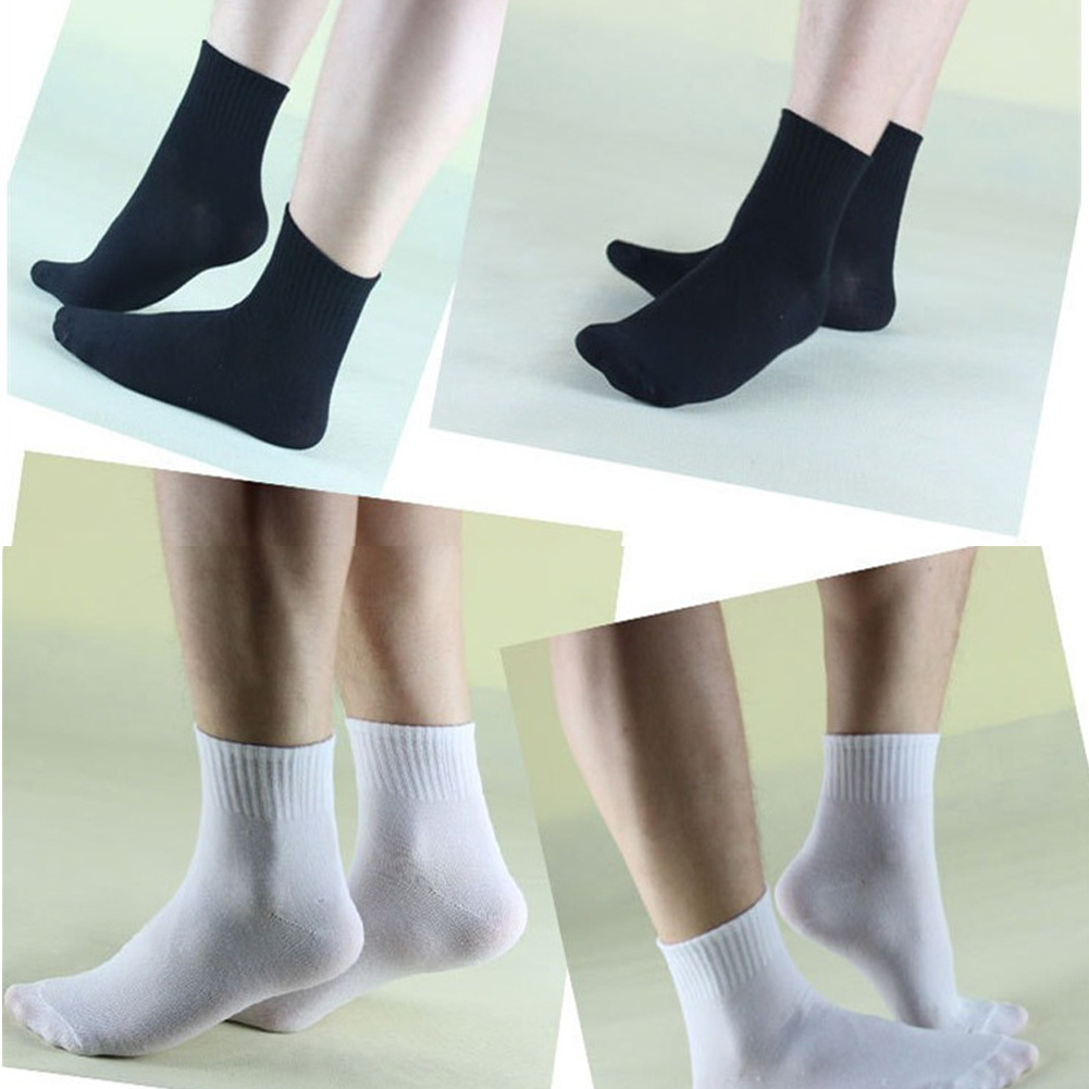 Men's Socks 1pairs 3colors Mens Dress Socks Thermal Casual Soft Cotton Sportswear Solid Sock Gift Male Black White Ankle Casual Socks