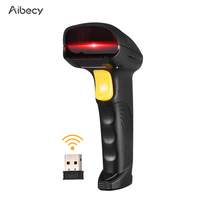 Aibecy 2 in 1 2.4G Wireless Barcode Scanner & USB Wired Barcode Scanner Automatic Handheld 1D Bar Code Scanner Reader
