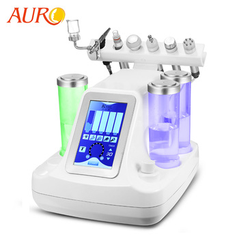 AURO 6 In 1 2020 New Hot Oxygen Jet Facial Water Peel Microdermabrasion Ultrasonic RF BIO Vacuum Facial Spa Beauty Equipment