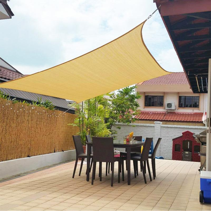US $21.76 32% OFF|High Quality Sun Block Awning PE Sun Shade for Garden  Patio Swimming Pool Outdoor Camping Picnic-in Sun Shelter from Sports & ...