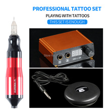 Top selling Tattoo Machine Rotating Pen Suit Mini Power Supply Foot Pedal Supplies Free Delivery