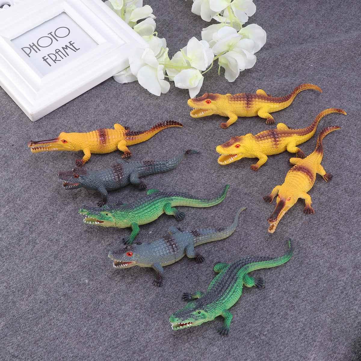 8Pc Figuras de Animais Realistas Figura do Jacaré Cognitivo na Primeira Infância Educação Brinquedos Animal para Crianças Meninas Meninos Crianças