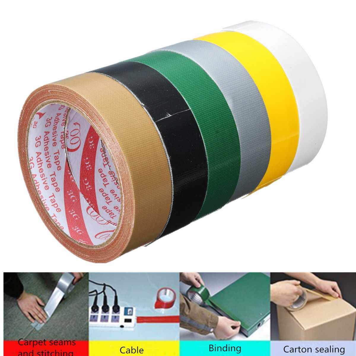 Waterproof Adhesive Tape Sticky Cloth Duct Roll Craft Repair 8 Color Multi Sizes