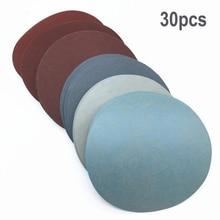 30pcs/Set 125mm Round sandpaper Disk Sand Sheets Grit polishing paste 1000/1500 /2000 /3000/ 5000/ 7000 Sanding Discs