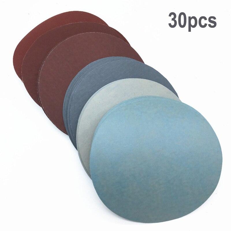 Paquete De 5-125 mm gancho y bucle de Lijado Disco//Hoja 80 Grit