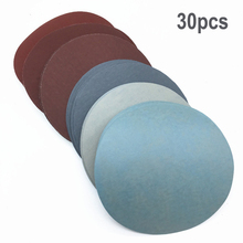 High quality 30pcs/Set 125mm Round sandpaper Disk Sand Sheets Grit 1000# /1500# /2000# /3000#/ 5000#/ 7000# Sanding Discs