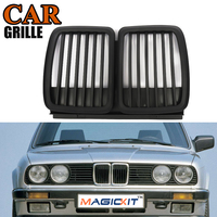 MagicKit Matte Black Front Air Intake Kidney Grille Grill for BMW E30 3 Series Sedan Cabrio Coupe Touring 1982 1991 Wholesale