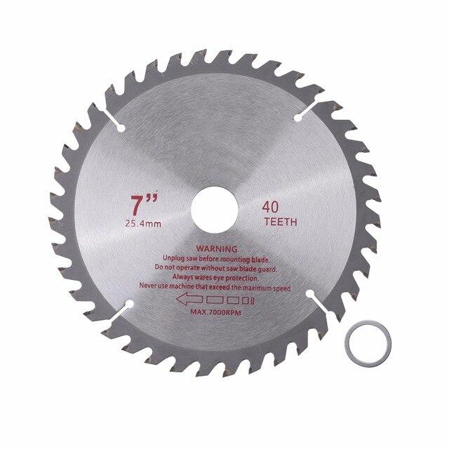 Hoja de sierra Circular de carburo cementado de 4/7 pulgadas, 40T, diámetro del orificio 20mm/25,4mm, herramientas eléctricas de corte de madera