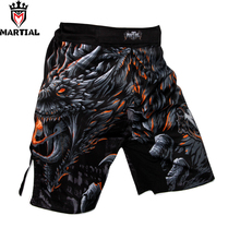 Martial:New arrival Fire and Blood Original design MMA fight shorts fitness short mma combat bjj trunks