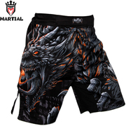 Martial:New arrival Fire and Blood Original design MMA fight shorts fitness short mma combat fight shorts bjj trunks