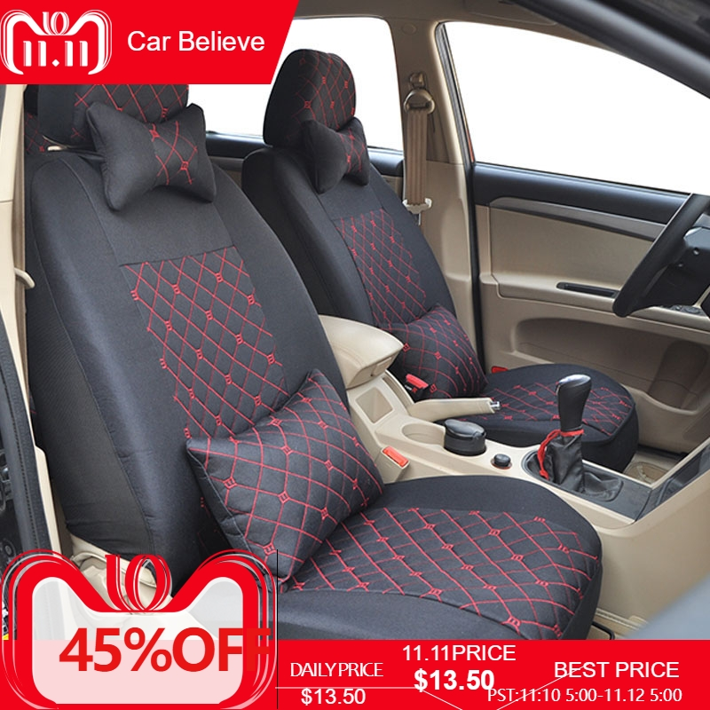 Car Believe car seat cover For ford focus 2 3 S-MAX fiesta kuga 2017 ranger mondeo mk3 accessories covers for vehicle seat цена