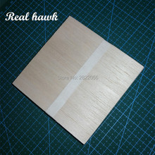 AAA+ Balsa Wood Sheets 100x100x4mm Model Balsa Wood for DIY RC model wooden plane boat material цены