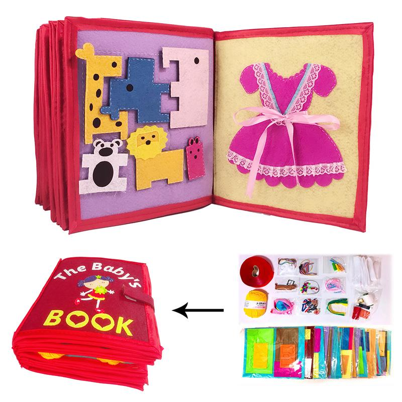 Cloth-Book Educational-Toy Early-Learning Baby Kids Infant DIY 3D Non-Woven